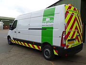 Nu-Phalt Renault Master Chapter 8 Hi-Viz markings