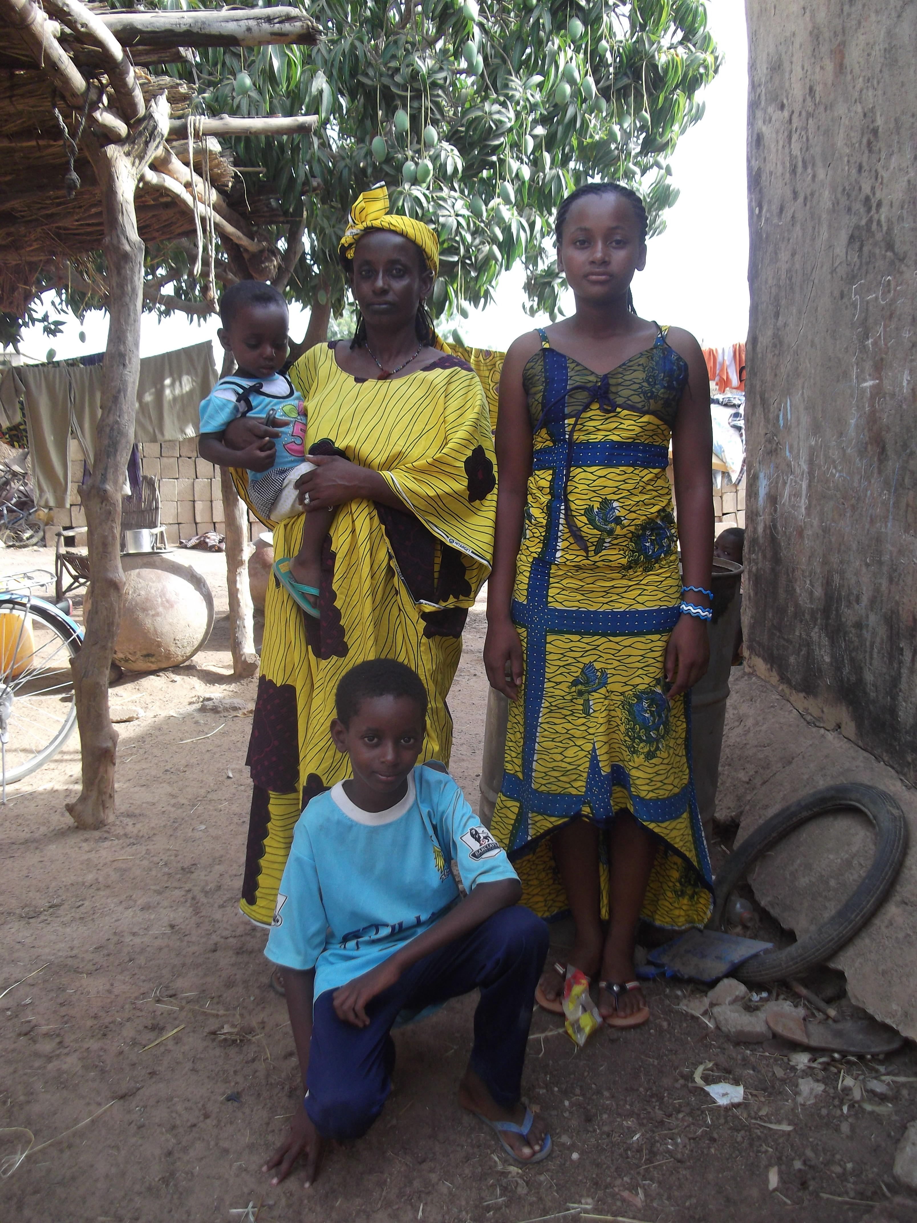 Fatimata, en famille