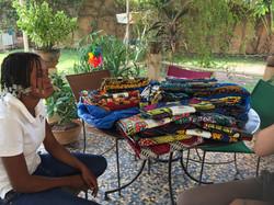 En rentrant du marché de Ouaga