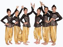 Gold Harem Pants with Peplum Trendy Top - SKU: B127