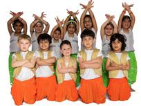 Orange Harem Pants, Gold Vests, and Green Harems with Silver - SKU: B114