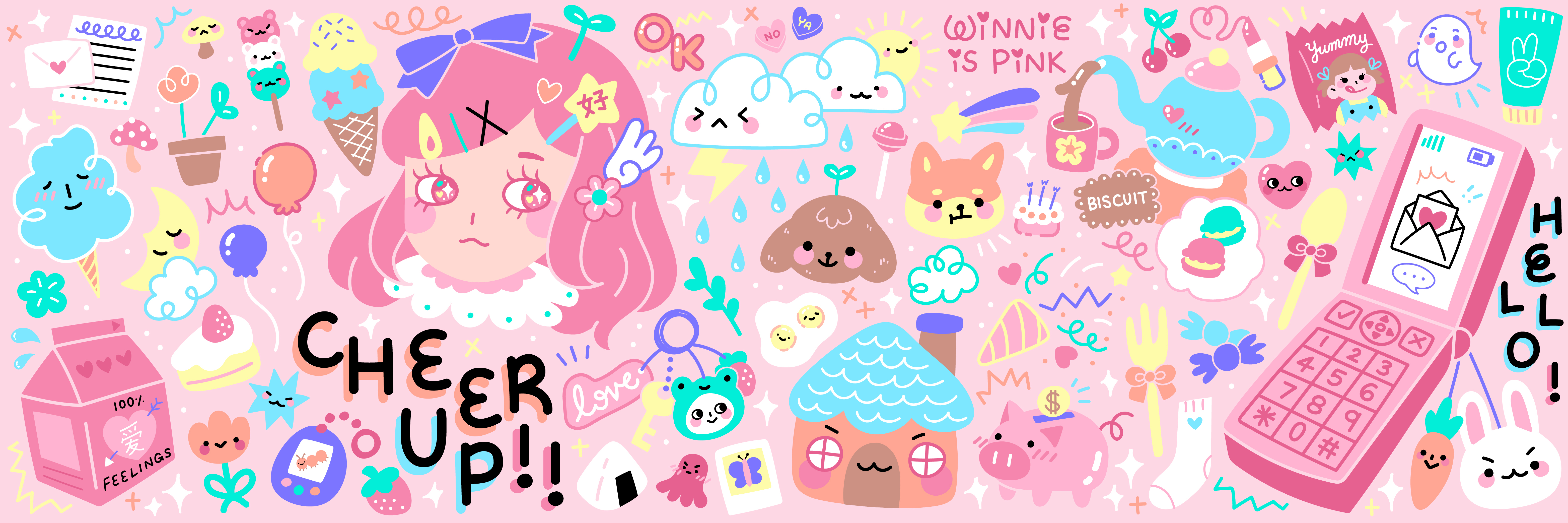 01_Winnie is Pink Banner