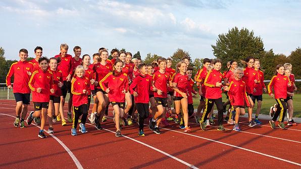 Der Braunschweiger Laufclub beim Training in Braunschweig-Rüningen