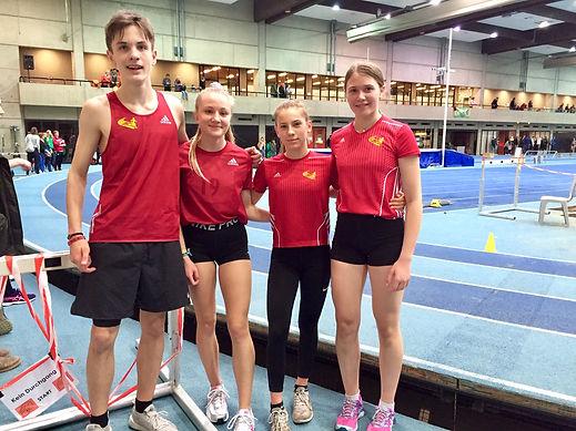 Tim Kalies (v.l.), Julia Jablonski, Nathalie Rix und Liv Grete Ahl konnten sich mit ihrem Abschneiden in Hannover überaus zufrieden zeigen. Foto: Ahl
