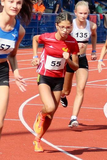 Anna Malena Wolff López verteidigte über 2000 m der W14  ihren Titel aus dem Vorjahr. Foto: Nicole Heuermann