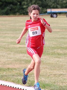 Milana Bornhardt im Laufen