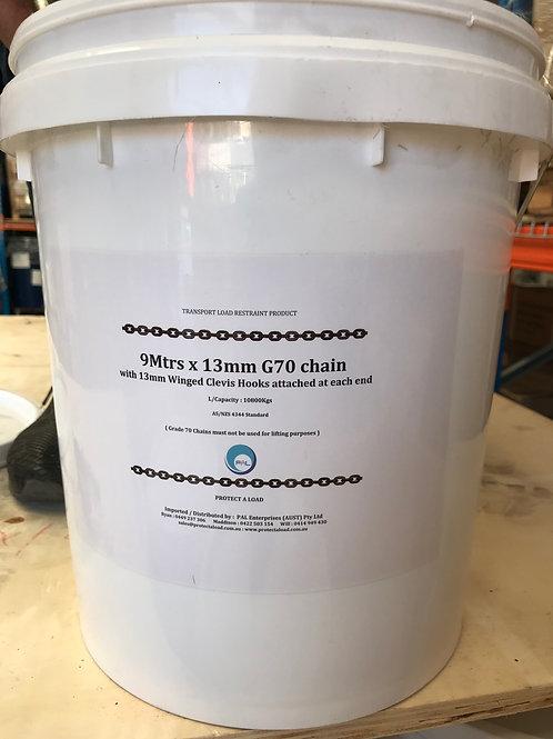 13mm G70 Bucket Chain Set (9m)