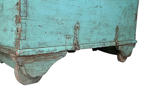Antieke bruidskist (teakhout)