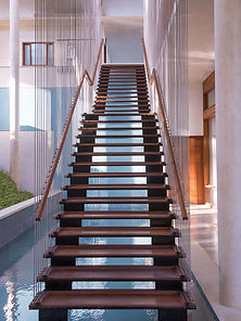 metal staircase contruction