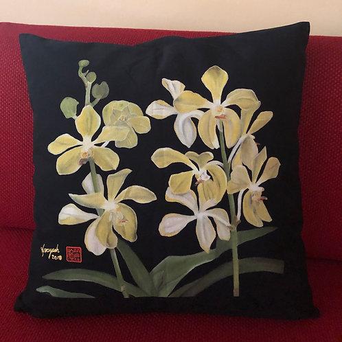 SOS 5 Orchids Cushion Covers Aranda Lee Kuan Yew