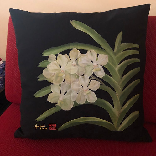 SOS 5 Orchids Cushion Covers Vanda Kwa Geok Choo