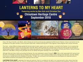 LANTERNS TO MY HEART Art Showcase in September 2018