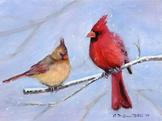 Snowy Perch  SOLD