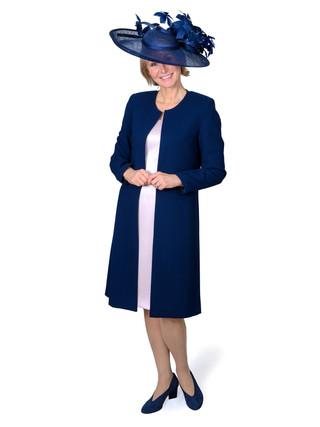 OLIVIA - WOOL COAT & SILK DRESS