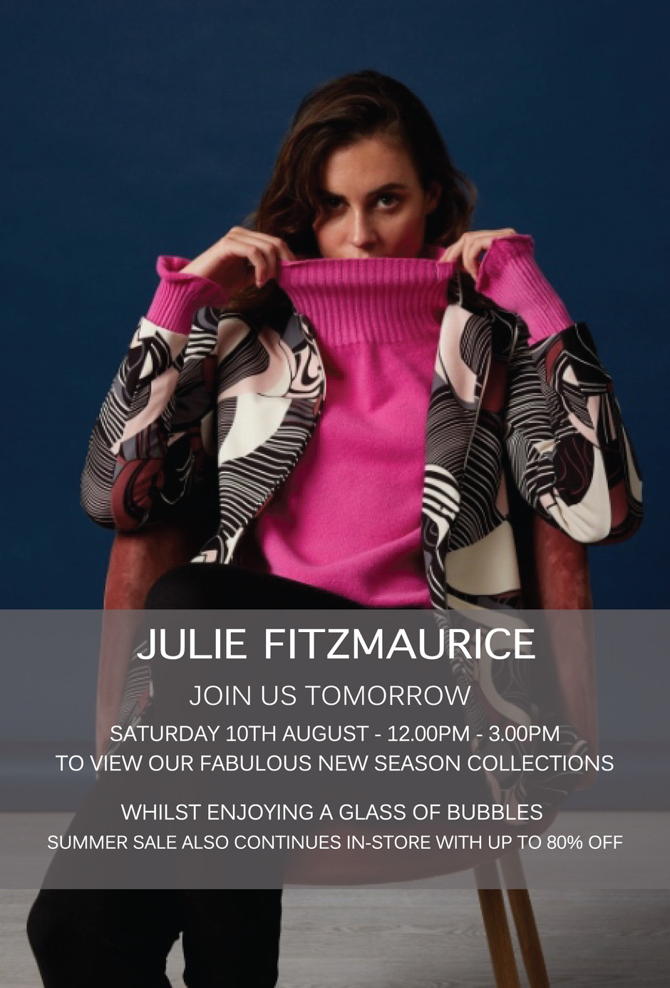 Join us Tomorrow to view our Fabulous New Season Collections