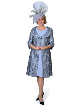 JULIETTE - LACE COAT & SILK DRESS