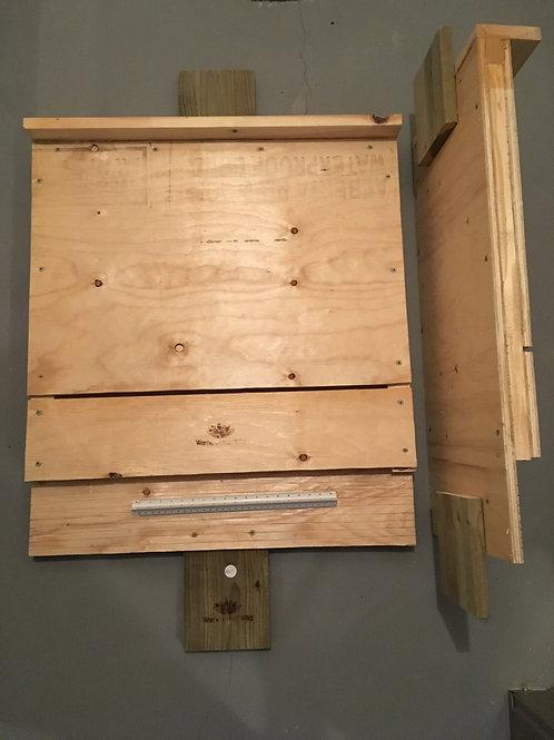 Unpainted Straight Edge Bat Box
