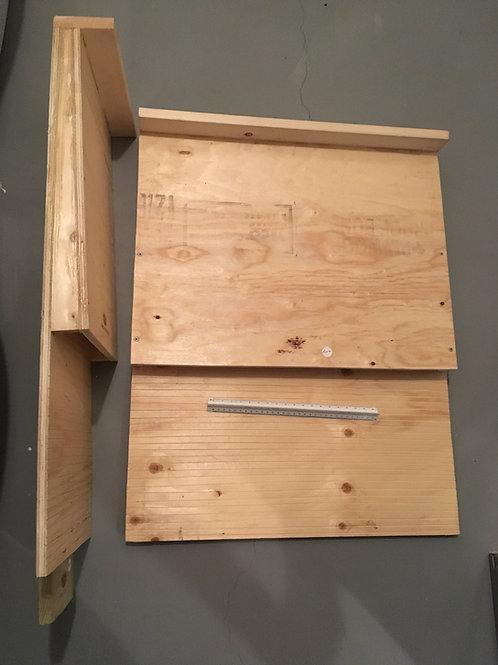 Unpainted Wedge Edge Bat Box