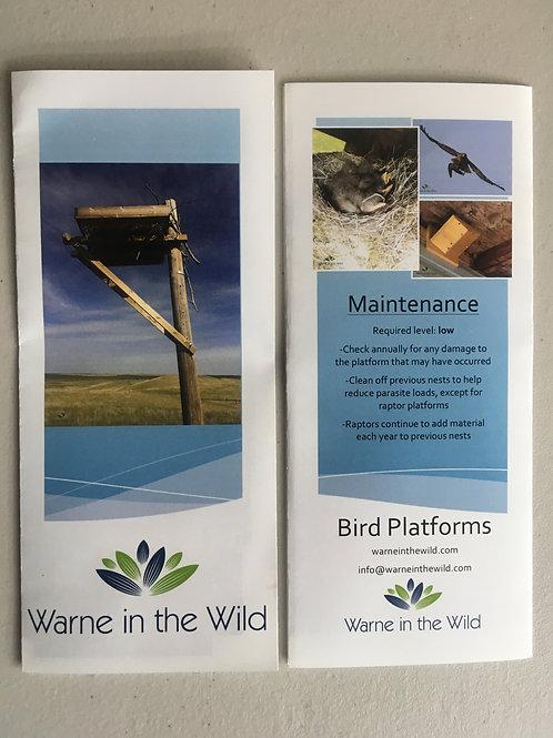 Pamphlet - Bird Platforms