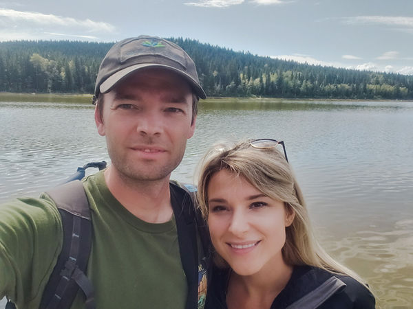 mitchell warne, jacey warne, nature couple, birdwatching, warne in the wild, British Columbia