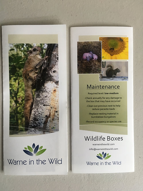 Pamphlet - Wildlife Boxes