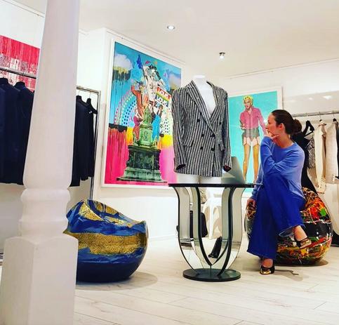 Art Installation at Sanne London for London Fashion Week