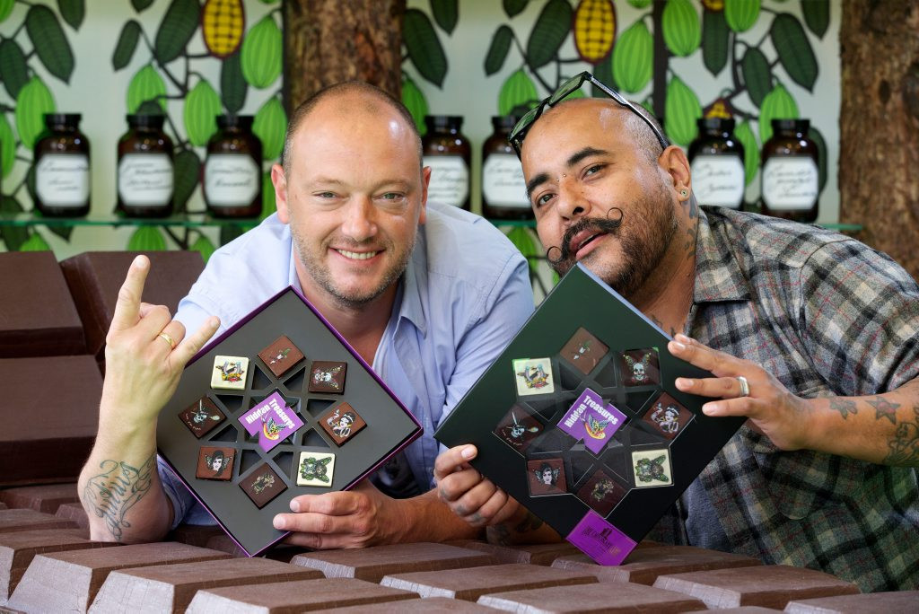 Belgian Chocolatier Dominique Persoone and Myself at press launch for Hidden Treasures.