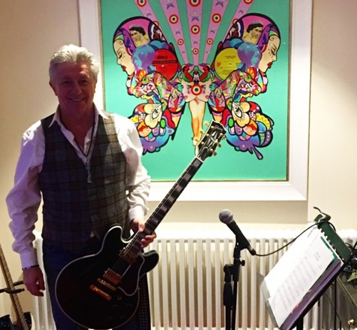 Private commision for collector in his private recording studio. France. 2016