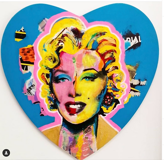 The Last Bombshell  mixed media on canvas 2019
