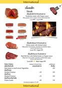 Food Menu Steaks