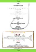 Food Menu Fish Fillets