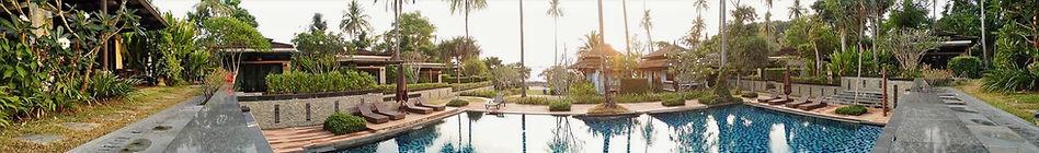 Resort panorama around pool