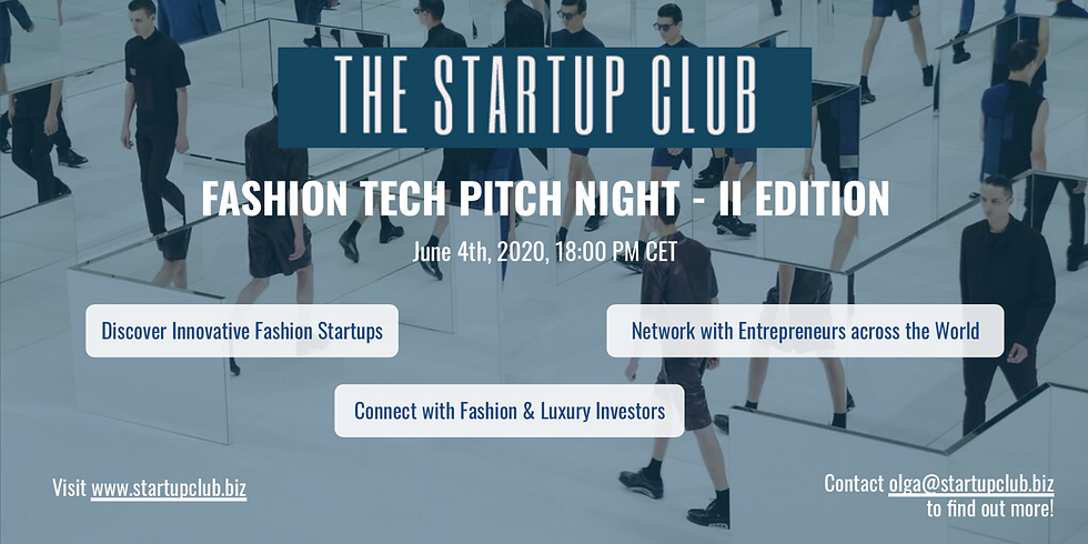 Fashion Tech Pitch Night - II Edition