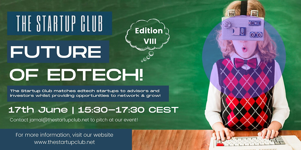 Future of EdTech VIII - Online Pitch Night