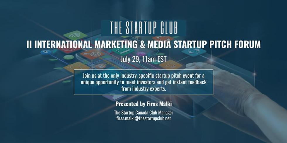 International Marketing & Media Startup Pitch Forum II