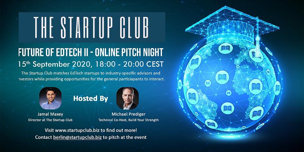 Future of EdTech II Pitch Night