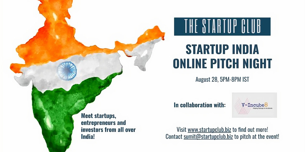 Startup India Online Pitch Night