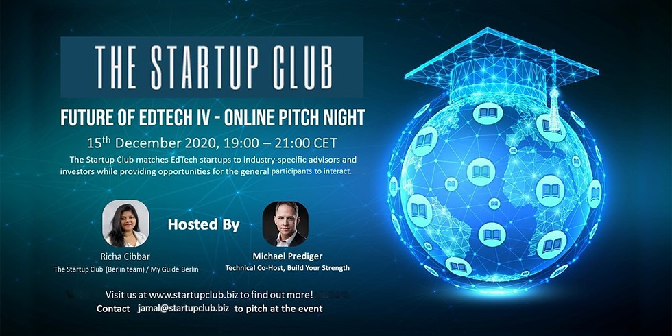 Future of EdTech IV - Online Pitch Night