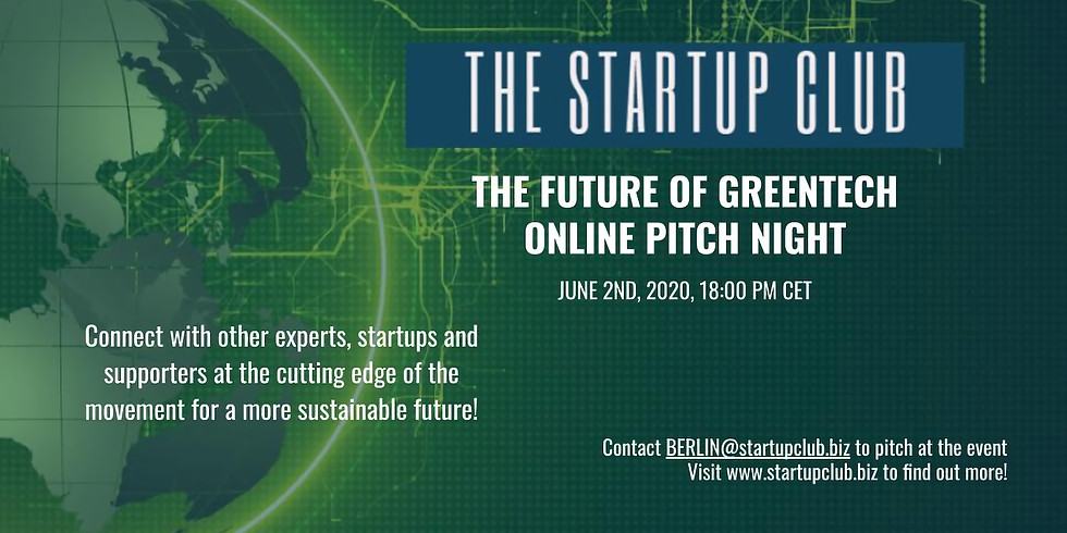 The Future of GreenTech Online Pitch Night