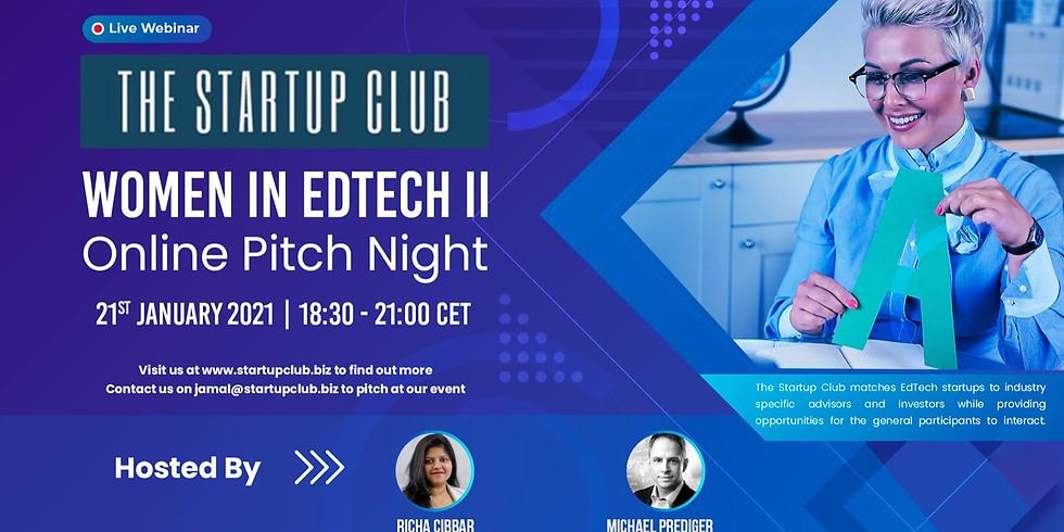 Women in EdTech II - Online Pitch Night