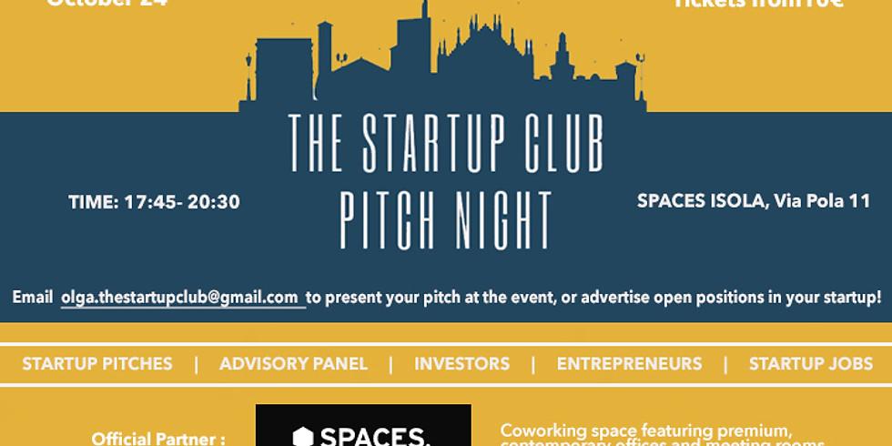 Startup Club Pitch Night - Milan Edition
