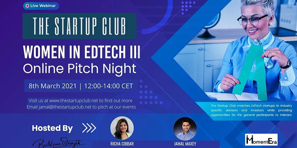 Women in EdTech III - Online Pitch Night