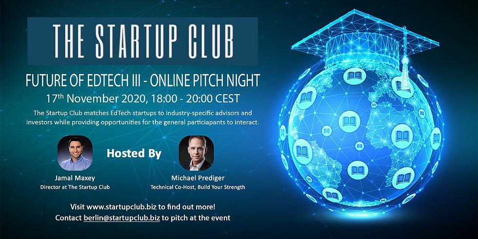 Future of EdTech III Pitch Night