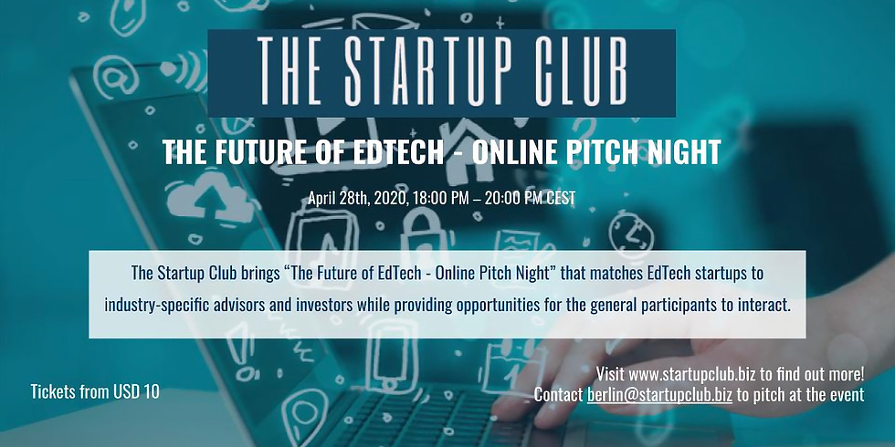 The Future of EdTech - Online Pitch Night