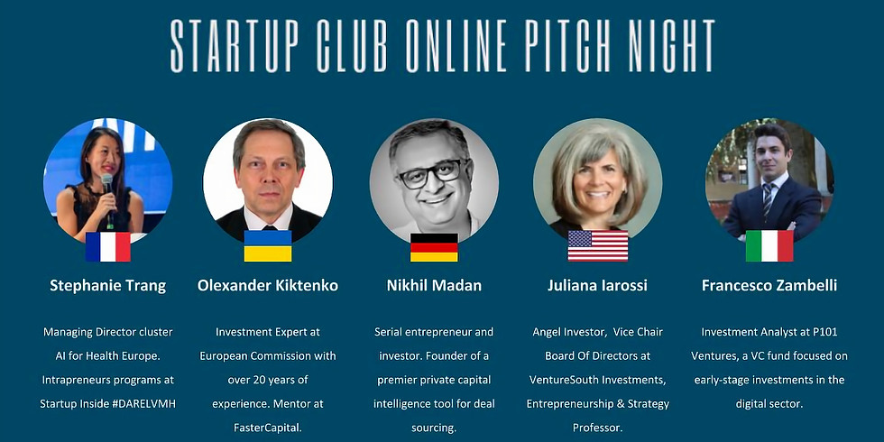 Networking in Virtual World - First European Online Pitch Event