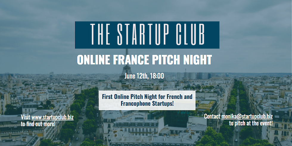 Startup France Club Pitch Night