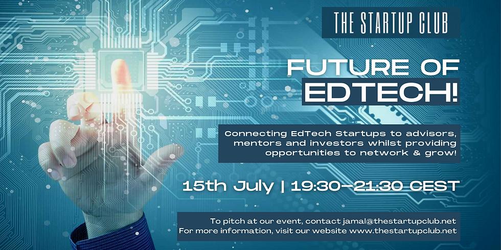 Future of EdTech IX - Online Pitch Night