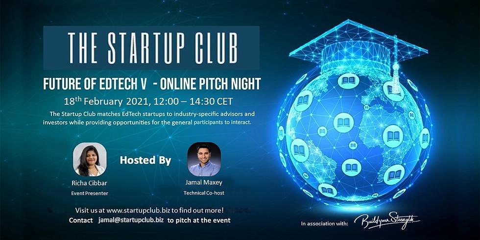 Future of EdTech V - Online Pitch Night