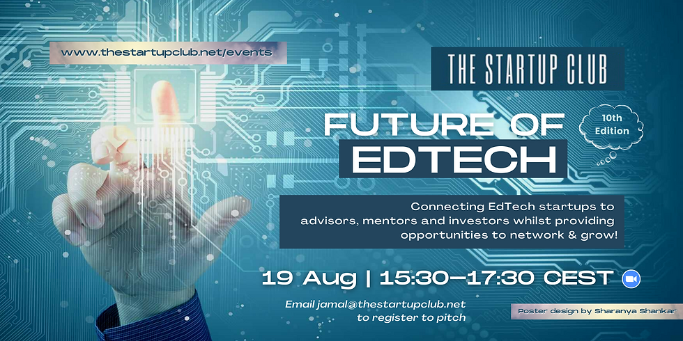 Future of EdTech X - Online Pitch Night
