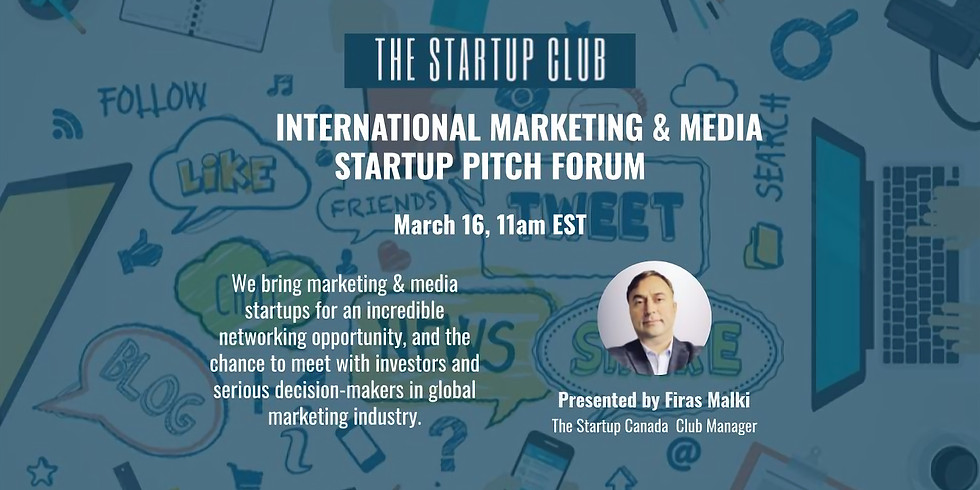 International Marketing & Media Startup Pitch Forum